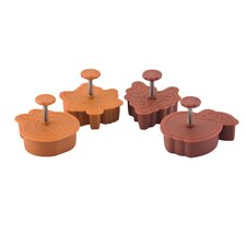 Signature Bakeware 4 Piece Pie Press Cutters Set