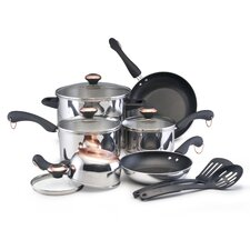 <strong>Paula Deen</strong> Signature Stainless Steel 12-Piece Cookware Set