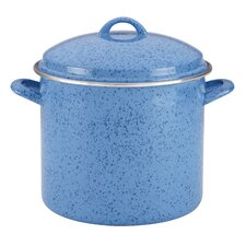Enamel on Steel Stock Pot with Lid