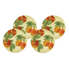 "Signature Dinnerware 9.25"" Georgia's Bounty Salad Plates (Set of 4)"