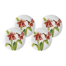 "Signature Dinnerware 9.5"" Amaryllis Dessert Plates (Set of 4)"