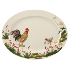 "Southern Rooster 13.5"" Oval Platter"