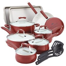 <strong>Paula Deen</strong> Savannah 17-Piece Cookware Set