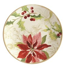 "Signature Holiday Floral 8"" Salad Plate (Set of 4)"