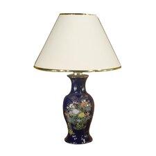 Old Floral Design on Ceramic Base Table Lamp