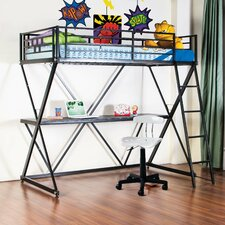 Zinnia Twin Loft Bed with Desk