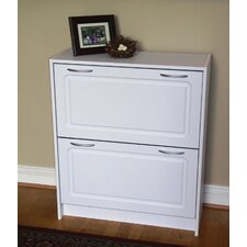 Storage and Organization Deluxe Double Shoe Cabinet