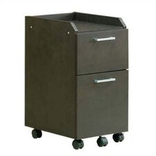 2-Drawer Rolling Mobile File Cabinet
