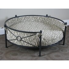 Smoked Metal Round Dog Bed