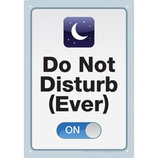 Do Not Disturb Tin Sign Textual Art