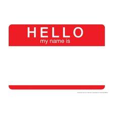 Hello My Name Tin Sign Textual Art