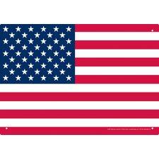 USA Flag Tin Sign Graphic Art
