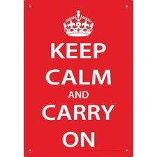 Keep Calm Tin Sign Textual Art