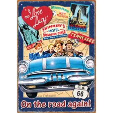 I Love Lucy Road Trip Tin Sign Vintage Advertisement