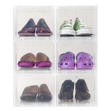 Drop Front Shoe Box (Set of 6)