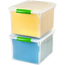 Letter/Legal File Box with Latches and Glides (Set of 4)