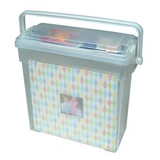 Scrapbook Storage Series Portable Scrapbook Carrier in Clear