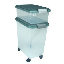 Airtight Pet Food Storage Container in Green