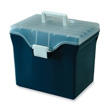 "File Box,w/ Snap Lid, Letter Size, 13-3/8""x10""x11-5/8"", Blue"