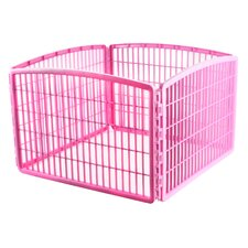 "23.63"" 4 Panel Indoor/Outdoor Dog Pen"