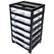 <strong>Iris</strong> Project and Scrapbook Carts 6 Case Chest with Casters