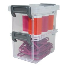 Layered 0.14 Liter Latching Box (Set of 3)