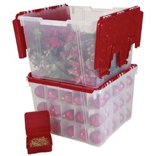 Holiday Wing Lid Organizer Set with Ornament Dividers