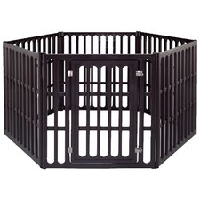 "39.88"" Extra Large 6 Panel Indoor/Outdoor Pet Pen"