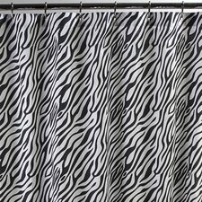 <strong>Sin In Linen</strong> Dreamy Linens Cotton Zebra Shower Curtain