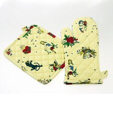 Flash Tattoo Oven Mitt and Pot Holder Set