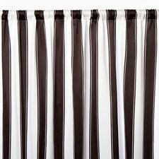 Stripe Cotton Sateen Rod Pocket Curtain Single Panel