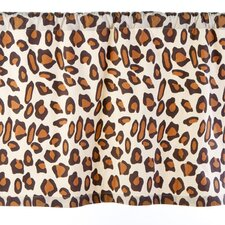 Leopard Cotton Rod Pocket Tailored Curtain Valance