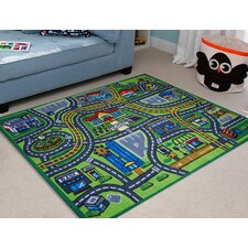 Kids Village Centre Rug in Multi