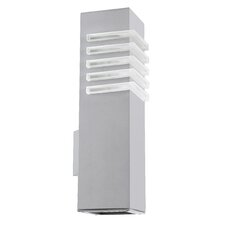 Luton 2 Light Outdoor Wall Light in Silver