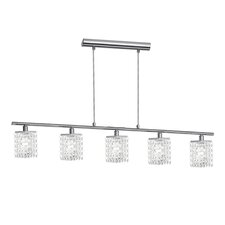 Pyton 5 Light Pendant in Chrome