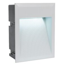 Zimba 1 Light Square LED Recessed Wall Light in Silver