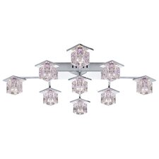 Kalinda 1 Nine Light  LED Ceiling Light in Clear / Chrome