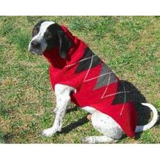 Red Classic Argyle Dog Sweater