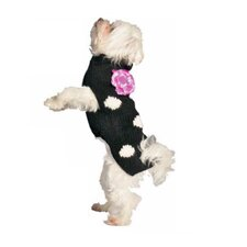 Polka Dot Flower Dog Sweater
