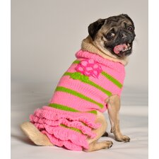 <strong>Chilly Dog</strong> Pink Flower Skirt Pink Sweater