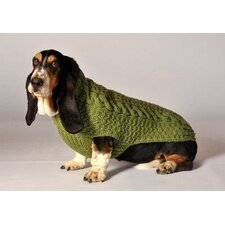 <strong>Chilly Dog</strong> Cable Dog Sweater