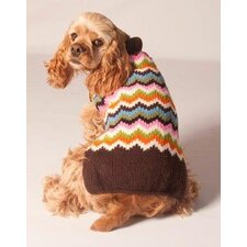 Sweetheart Chevron Dog Sweater