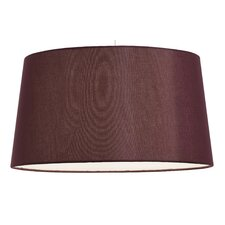 "16"" Tapered Faux Silk Shade with Reversible Gimbal"