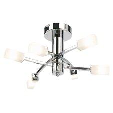 6 Light Semi Flush Light