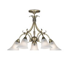 Alabaster 5 Light Chandelier
