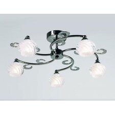 5 Light Semi Flush Light