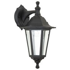 Six Sided Wall Lantern in Black