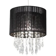 Non Electric Shade with Clear Acrylic Droplets