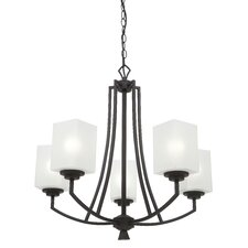 <strong>Endon Lighting</strong> 5 Light Crystal Chandelier