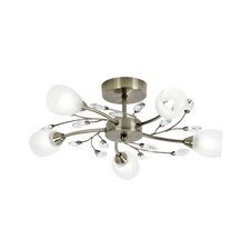 5 Light Ceiling Semi-Flush Mount